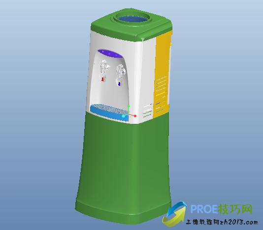 proe饮水机模型