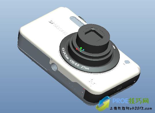 proe数码相机模型下载