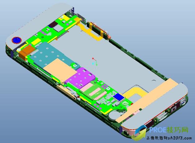 iPhone5苹果手机ProE模型
