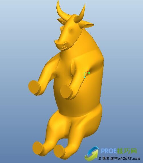 一头牛Proe5.0模型免费下载