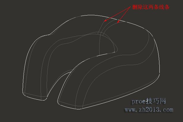 在proe工程图中,如何删除视图中不需要的线条
