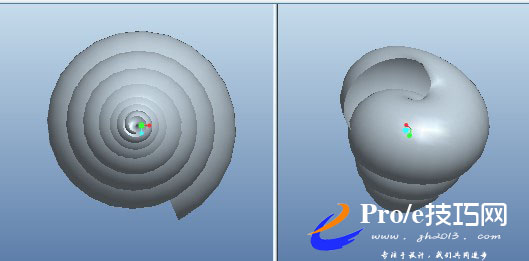 proe波浪螺旋型弹簧的画法