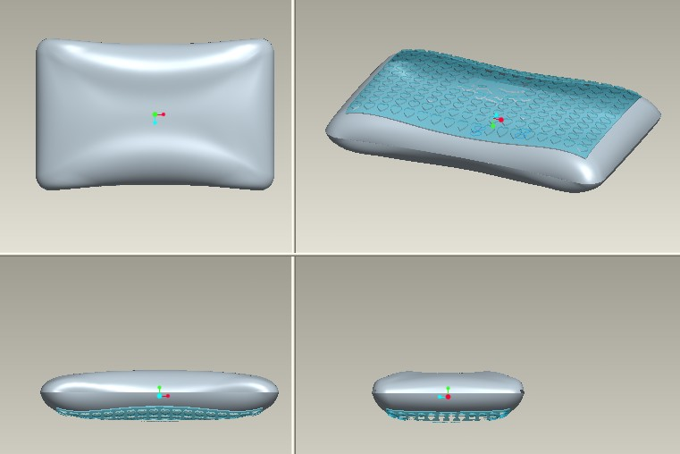 丘比特图案海绵记忆凝胶枕proe建模3D模型