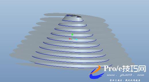 在proe中如何画出平面椭圆型螺旋线方法