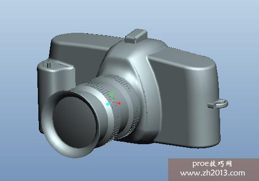 proe单反相机模型