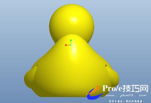 大黄鸭proe模型下载