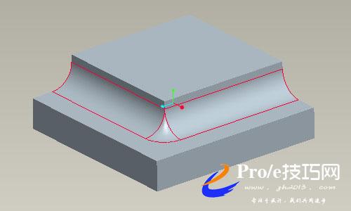 proe高级倒圆角-过渡倒圆角的操作方法