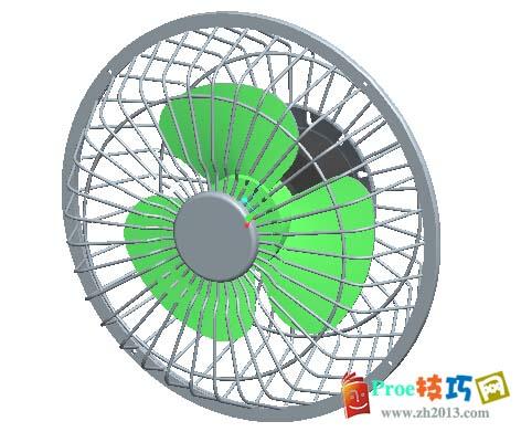 proe电风扇模型