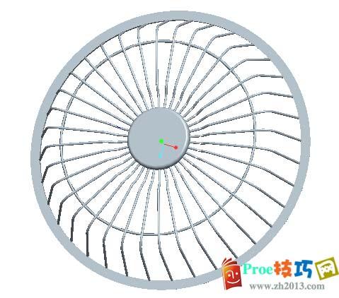 proe电风扇模型前盖