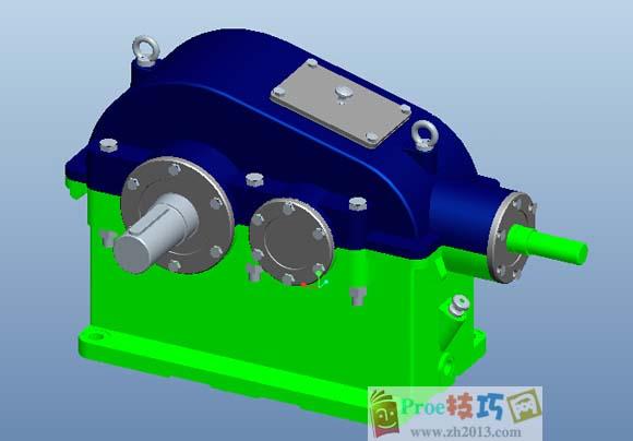 齿轮减速器整体图