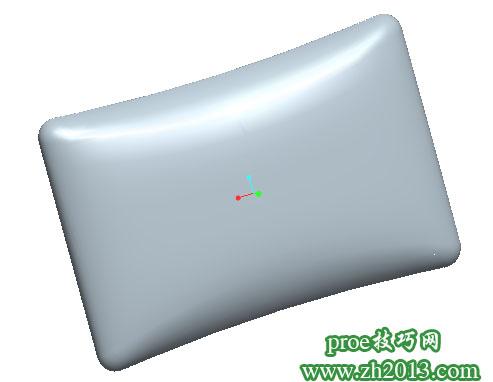 记忆枕proe造型
