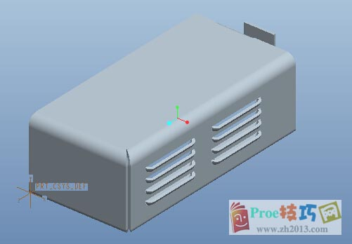 proe箱子排气孔画法