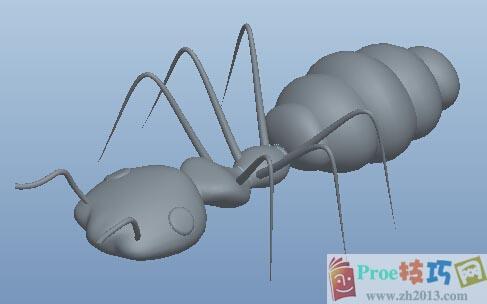 Proe黑色蚂蚁模型分享