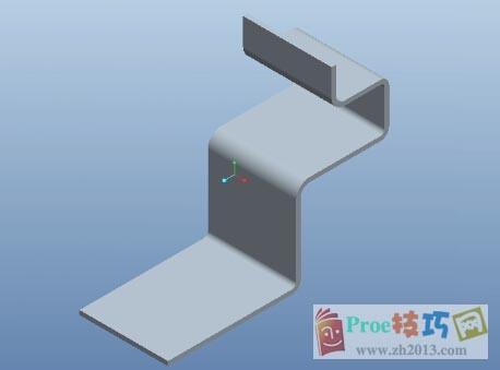 Proe钣金平面区域创建折弯