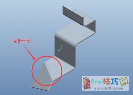 Proe钣金平面区域创建折弯_Proe5.0钣金视频教程