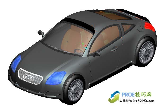 proe奥迪汽车模型免费下载_proe图纸下载