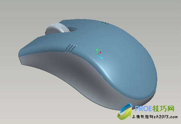 Proe鼠标模型