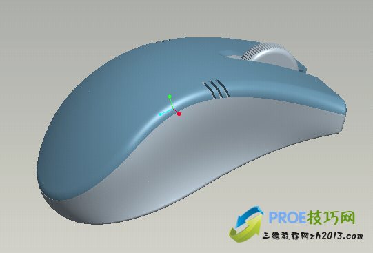 Proe鼠标三维模型免费下载
