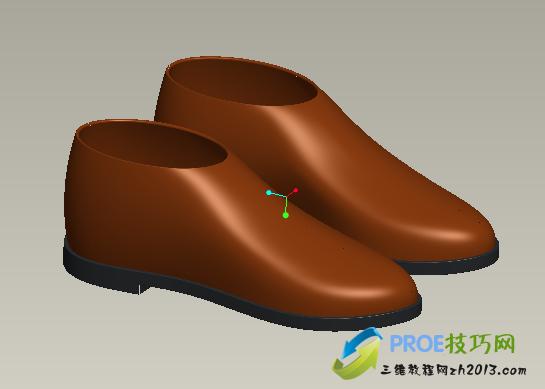 PROE皮鞋模型免费下载