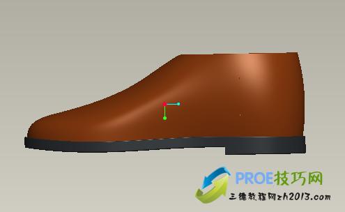 proe皮鞋模型
