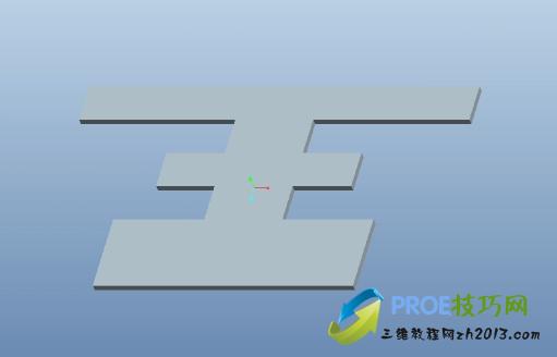 带有转接区的折弯操作方法_Proe5.0钣金视频教程