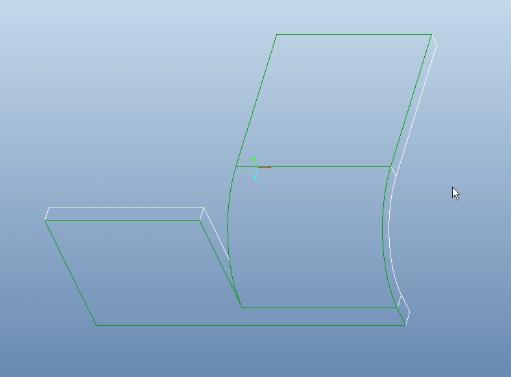 Proe钣金折弯线的使用