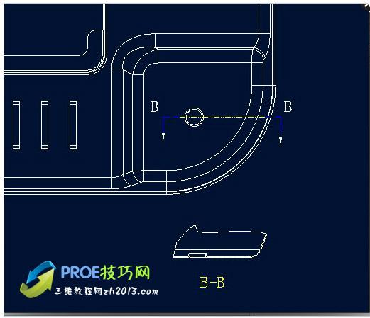 Proe工程图如何修改局部剖视图的比例图片