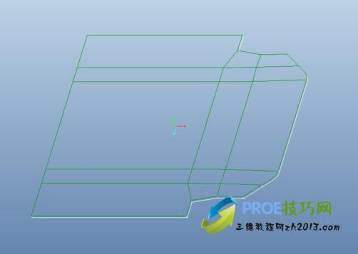 Proe5.0以变形区域辅助钣金展平