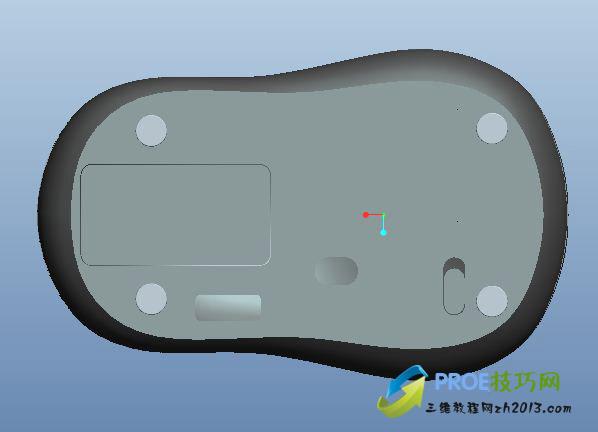 雷柏M10鼠标PROE模型