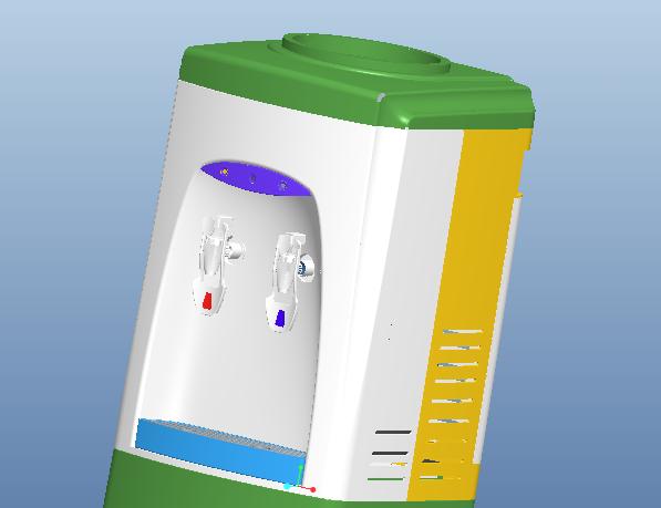 PROE饮水机组件模型下载