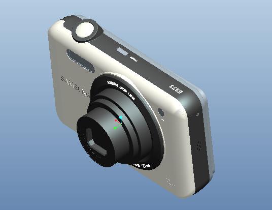 Proe数码相机模型免费下载_Proe模型下载