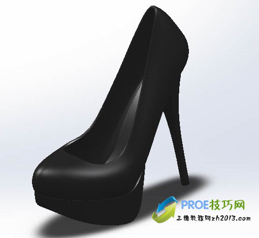 高跟鞋设计图手展示