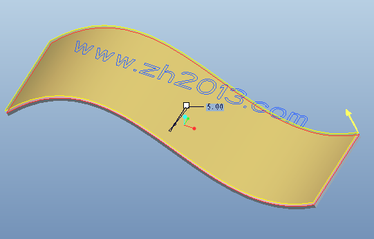 利用Proe拉伸命令创建曲面浮雕文字