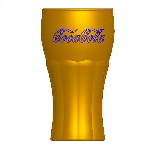 Pore扭曲特征创建可口可乐曲线杯