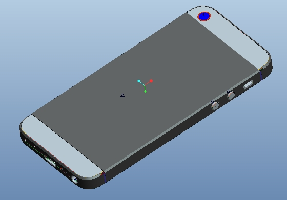 iphone5苹果手机proe模型(含详细结构)