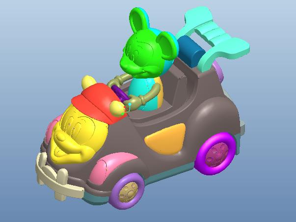 ProE儿童玩具车模型