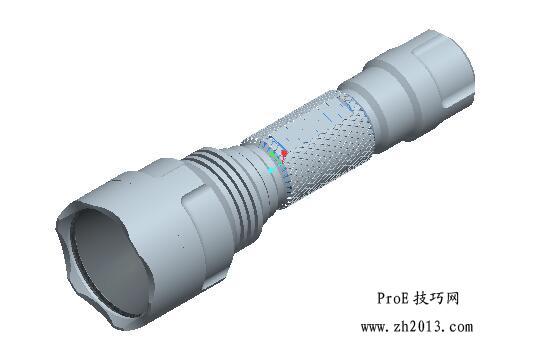 ProE手电筒模型免费下载