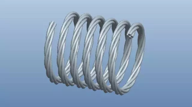 ProE螺旋形的电缆线的画法